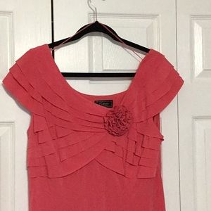 DressBarn coral knit dress size 16